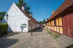 奥尔胡斯,丹麦老镇  免版税库存照片