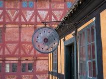 奥尔胡斯,丹麦老镇  图库摄影