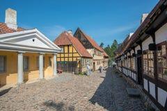 奥尔胡斯,丹麦老镇  免版税图库摄影