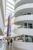 奥尔胡斯,丹麦- 2015年4月12日:ARoS艺术Museu的内部 库存图片