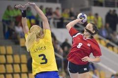 奥尔胡斯,妇女的奥林匹克资格比赛 免版税库存图片