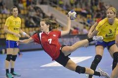 奥尔胡斯,妇女的奥林匹克资格比赛 免版税库存照片