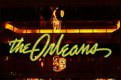 奥尔良旅馆和娱乐场入口 免版税库存照片