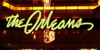 奥尔良旅馆和娱乐场入口 免版税库存图片