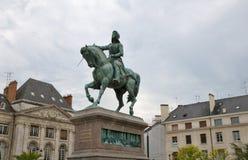 奥尔良雕象让娜d弧,法国 库存照片