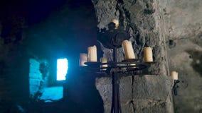 奥尔西尼- Odescalchi城堡在湖布拉恰诺4k的背景中 影视素材