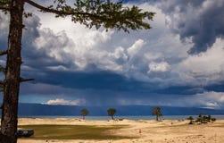 奥尔洪岛,贝加尔湖 库存图片