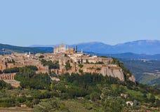 奥尔维耶托中世纪镇在意大利 库存图片
