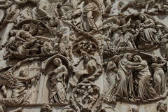奥尔维耶托大教堂浅浮雕 免版税库存图片