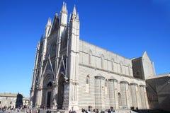 奥尔维耶托大教堂,意大利语翁布里亚 图库摄影