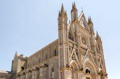 奥尔维耶托大教堂,意大利 免版税库存图片