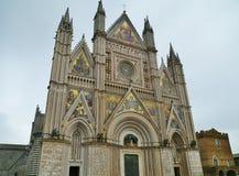 奥尔维耶托巨大的哥特式大教堂  免版税图库摄影