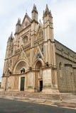 奥尔维耶托翁布里亚大教堂的看法  免版税库存照片
