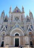 奥尔维耶托,翁布里亚,意大利大教堂  图库摄影