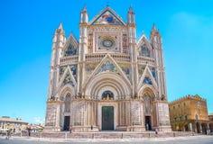 奥尔维耶托(中央寺院二奥尔维耶托),翁布里亚,意大利大教堂  免版税库存图片