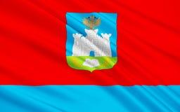 奥廖尔州,俄罗斯联邦旗子  库存例证