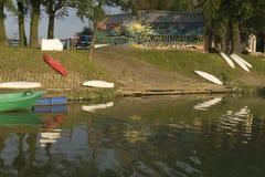 奥得河的独木舟港口 库存照片