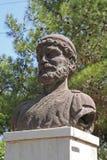 奥德修斯古铜色雕象  库存图片
