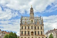 奥德纳尔德中世纪哥特式市政厅  图库摄影
