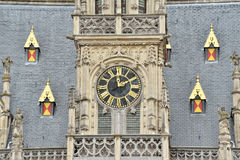 奥德纳尔德,比利时哥特式市政厅  免版税库存照片