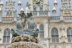 奥德纳尔德,比利时市政厅  库存图片