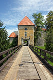 奥扎利城堡,克罗地亚 免版税库存照片