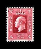 奥拉夫V, serie国王,大约1970年 库存照片