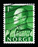 奥拉夫V, serie国王,大约1959年 图库摄影