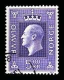 奥拉夫V, serie国王,大约1970年 免版税图库摄影