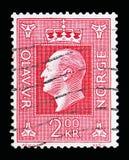奥拉夫V, serie国王,大约1970年 库存图片
