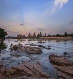 奥拉奇哈纪念碑-中央邦-印度 库存图片