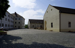 奥拉迪亚,罗马尼亚- 18可以2016年,城堡 库存照片