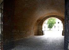 奥拉迪亚,罗马尼亚- 18可以2016年,城堡 免版税库存照片