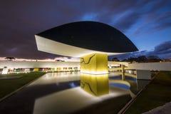 奥斯卡・尼迈耶博物馆- Curitiba/PR -巴西 库存照片