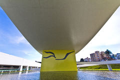 奥斯卡・尼迈耶Museu,库里奇巴,巴西 免版税库存照片