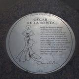 奥斯卡de la伦塔Plaque 免版税库存图片