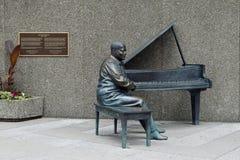 奥斯卡Peterson雕象,渥太华 库存图片