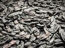 奥斯威辛,波兰- 2017年9月2日 奥斯威辛囚犯鞋子集中营的,奥斯威辛,波兰 库存图片