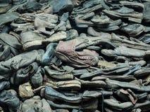 奥斯威辛,波兰- 2017年9月2日 奥斯威辛囚犯鞋子集中营的,奥斯威辛,波兰 库存照片