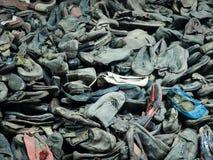 奥斯威辛,波兰- 2017年9月2日 奥斯威辛囚犯鞋子集中营的,奥斯威辛,波兰 免版税图库摄影
