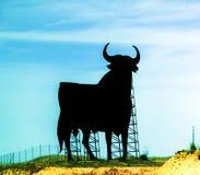 奥斯本雪利酒黑色给公牛的标志科多巴西班牙做广告 免版税库存图片