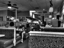 奥斯汀吃饭的客人B&W 免版税库存照片