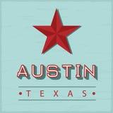 奥斯汀得克萨斯标志 免版税库存照片