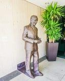 奥斯汀得克萨斯2017年9月17日:Lyndon B约翰逊在Lyndon B约翰逊LBJ解放的古铜雕象 库存图片