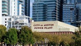 奥斯汀能源厂城市 免版税库存图片
