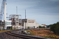 奥斯汀能源厂城市 图库摄影