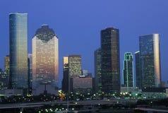 奥斯汀, TX,日落的状态国会大厦地平线  免版税库存照片