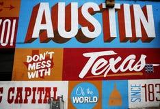 奥斯汀, TX,第6条街道 免版税库存图片