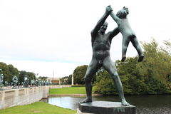 奥斯陆公园vigeland 免版税库存照片