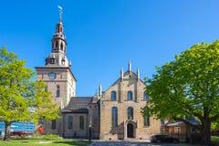 奥斯陆大教堂或奥斯陆Domkirke在奥斯陆市,挪威 库存照片